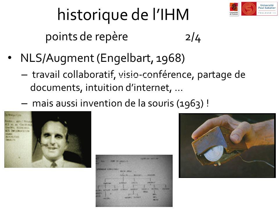 historique de l'IHM points de repère 2/4