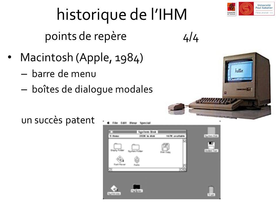 historique de l'IHM points de repère 4/4