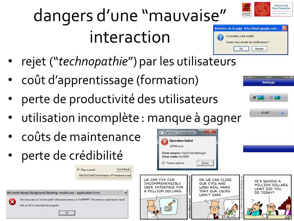 dangers d'une mauvaise interaction