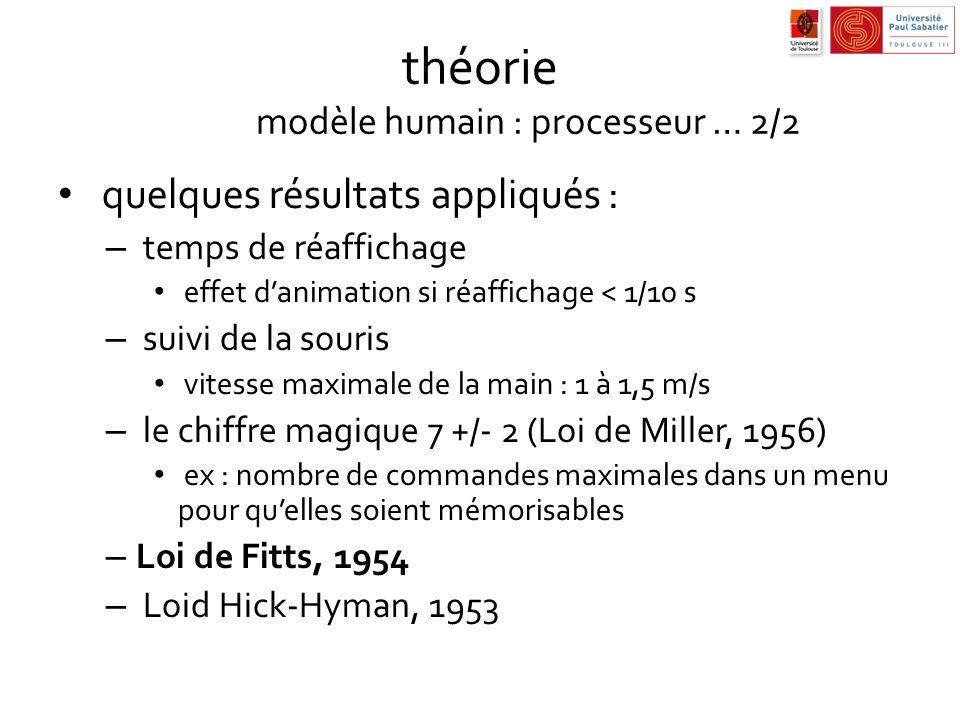 théorie modèle humain : processeur … 2/2