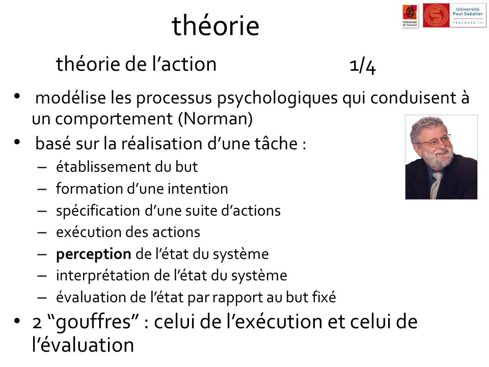 théorie théorie de l'action 1/4