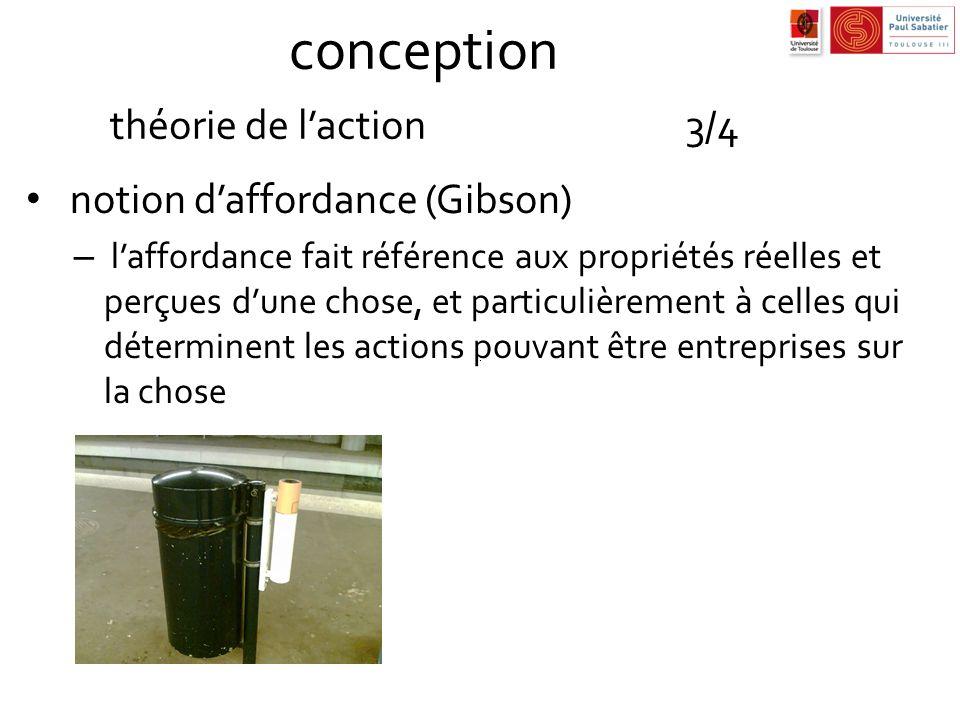 conception théorie de l'action 3/4