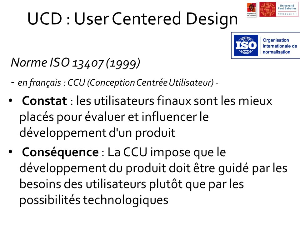 UCD : User Centered Design