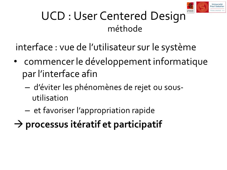 UCD : User Centered Design méthode