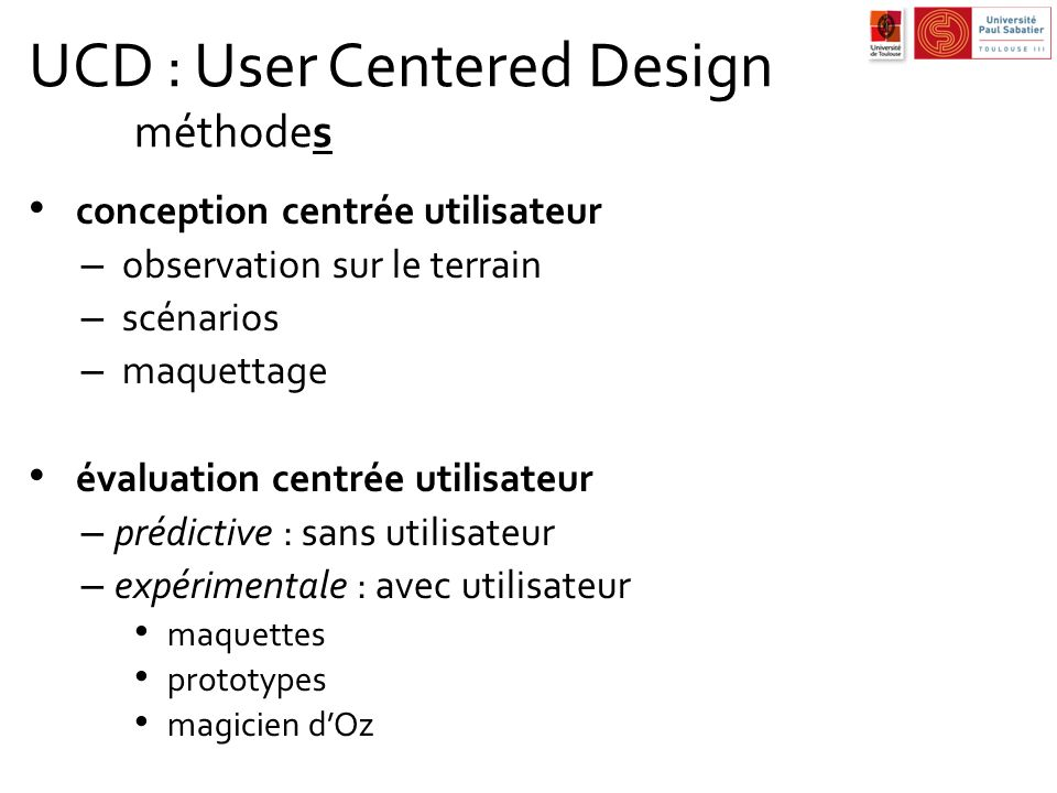 UCD : User Centered Design méthodes