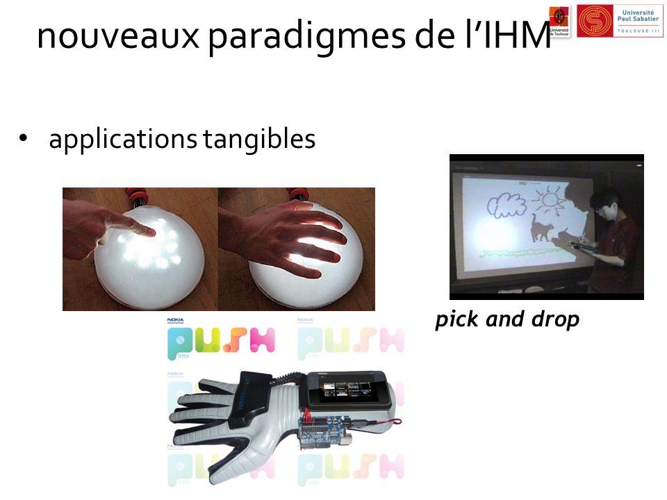nouveaux paradigmes de l'IHM