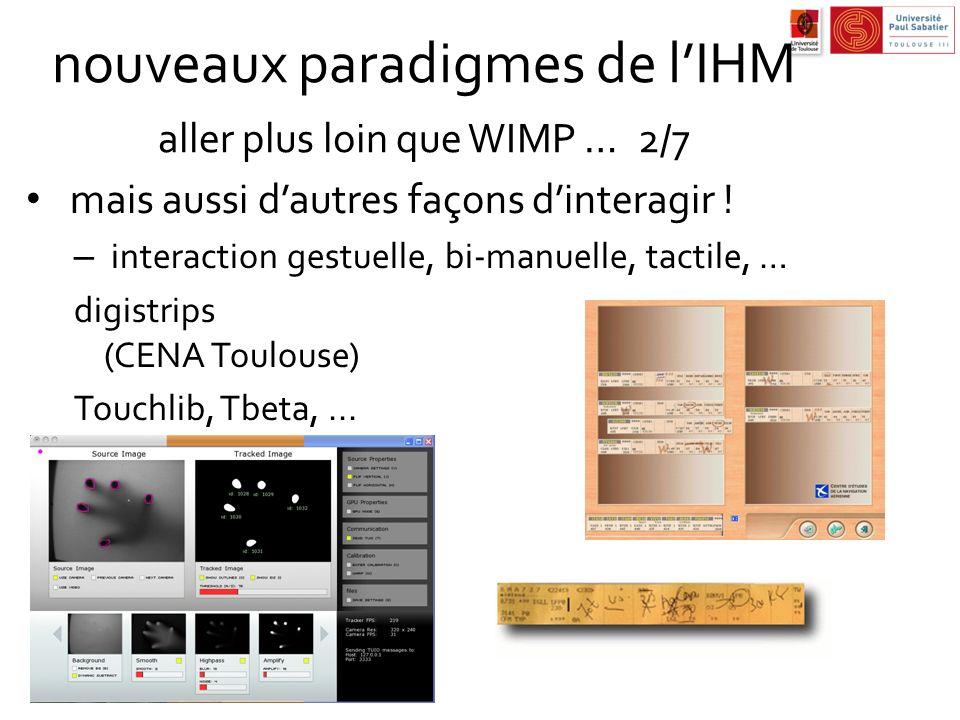 nouveaux paradigmes de l'IHM aller plus loin que WIMP … 2/7