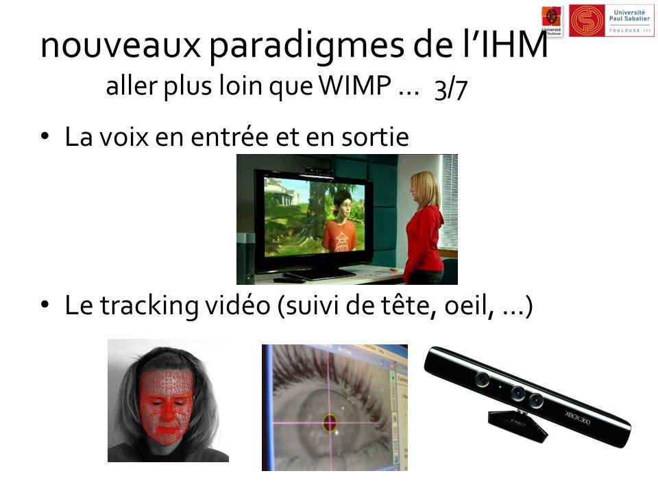 nouveaux paradigmes de l'IHM aller plus loin que WIMP … 3/7