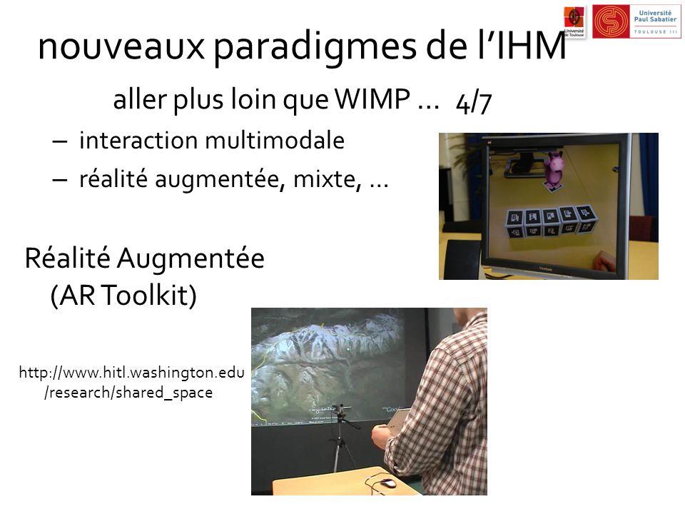 nouveaux paradigmes de l'IHM aller plus loin que WIMP … 4/7