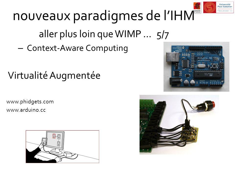 nouveaux paradigmes de l'IHM aller plus loin que WIMP … 5/7