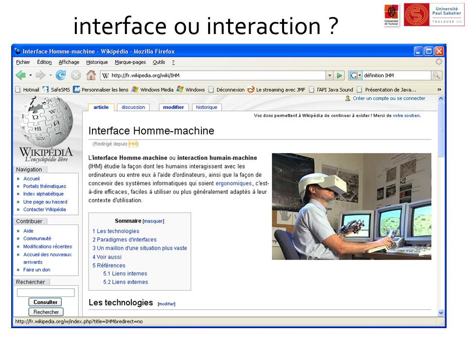 interface ou interaction