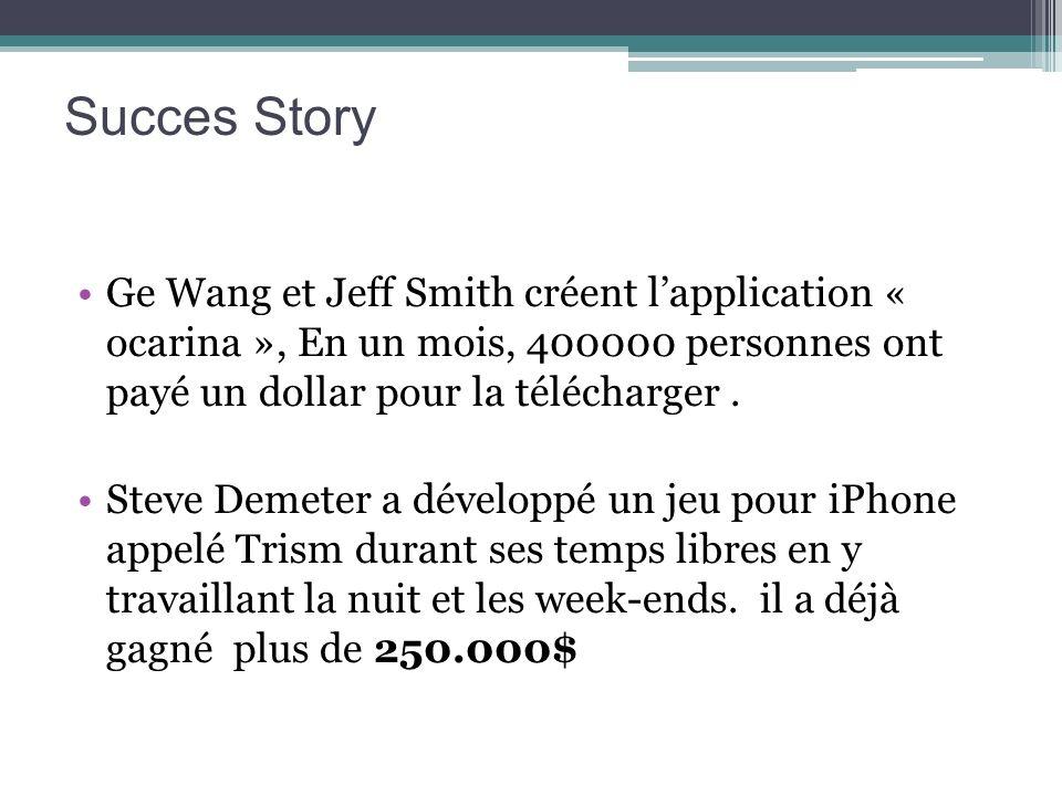 Succes Story Ge Wang et Jeff Smith créent l'application « ocarina », En un mois, 400000 personnes ont payé un dollar pour la télécharger .