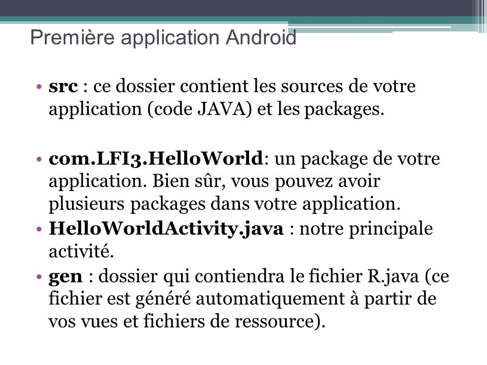 Première application Android