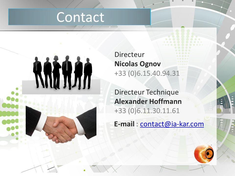 Contact Directeur Nicolas Ognov +33 (0)6.15.40.94.31