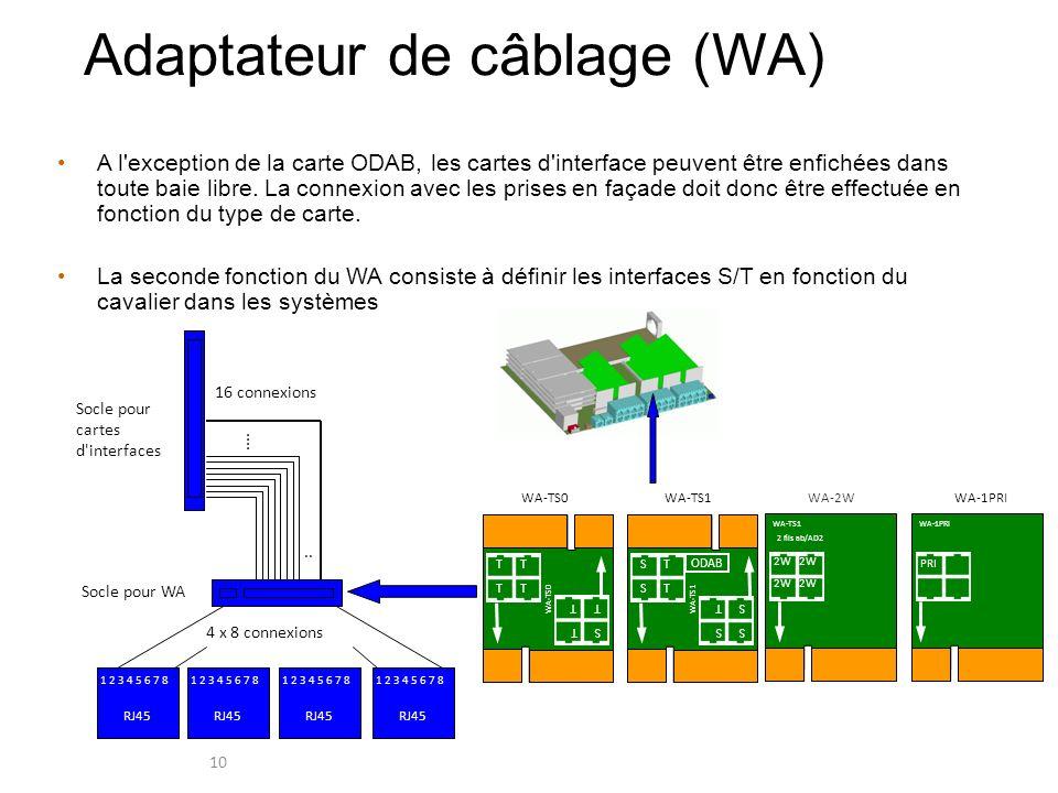 Adaptateur de câblage (WA)