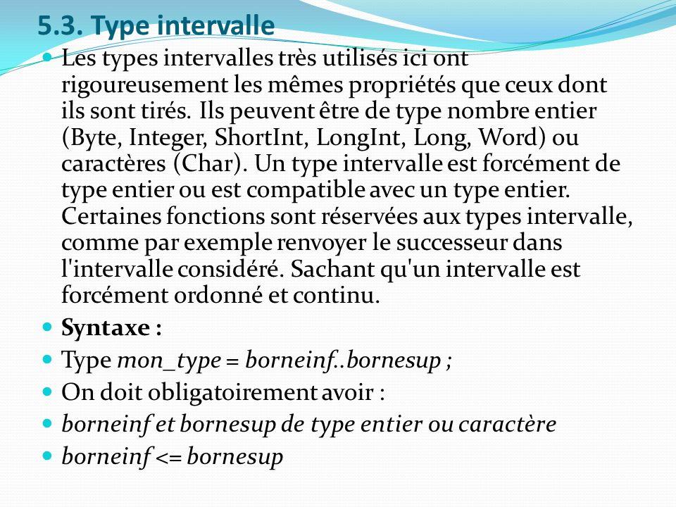 5.3. Type intervalle