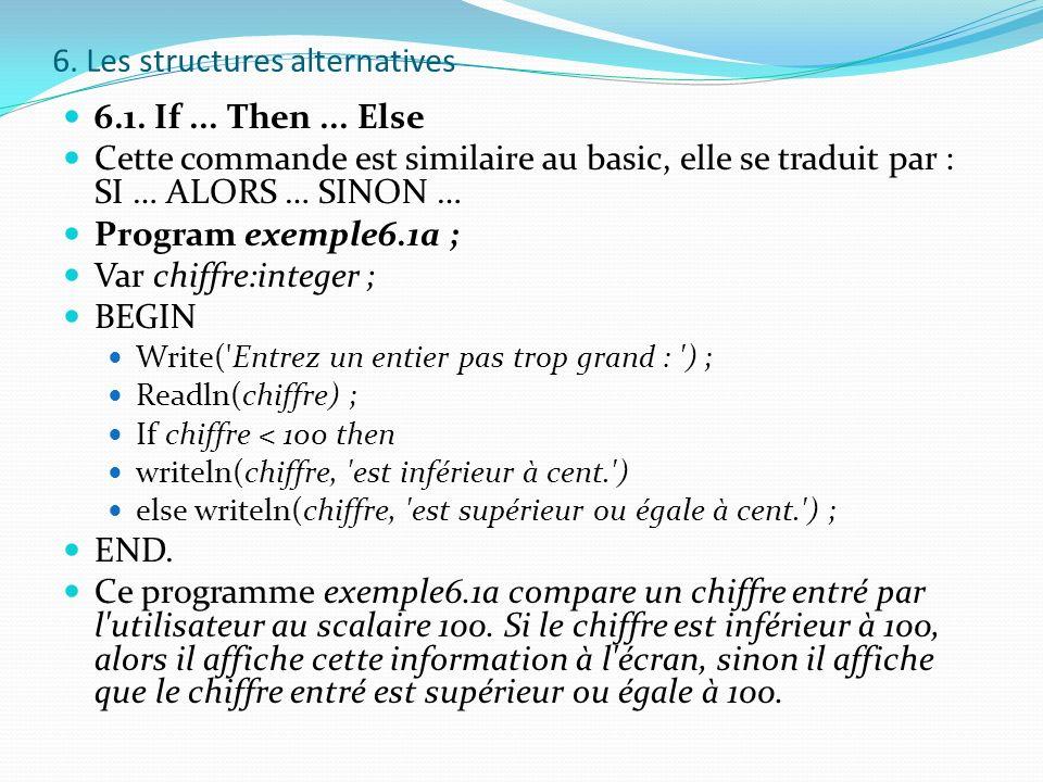6. Les structures alternatives
