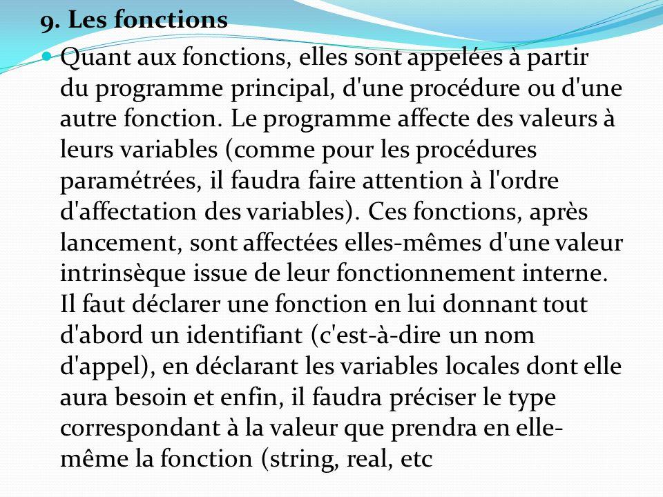 9. Les fonctions