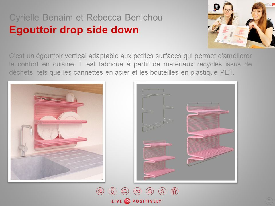 Cyrielle Benaim et Rebecca Benichou Egouttoir drop side down