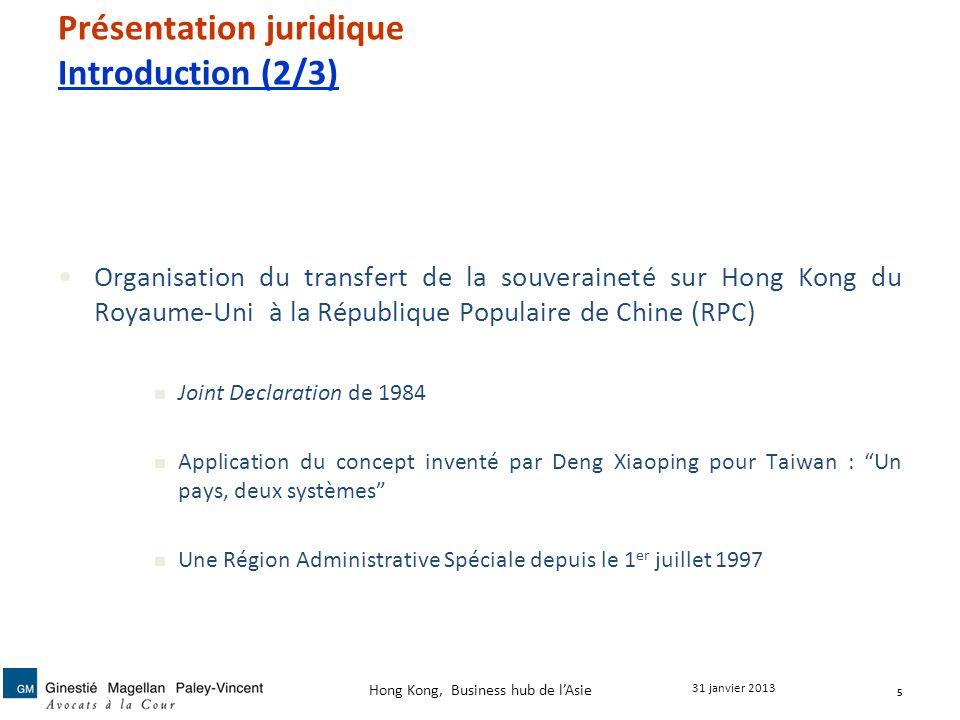 Présentation juridique Introduction (2/3)