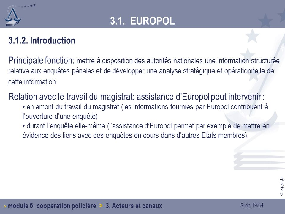 3.1. EUROPOL 3.1.2. Introduction.