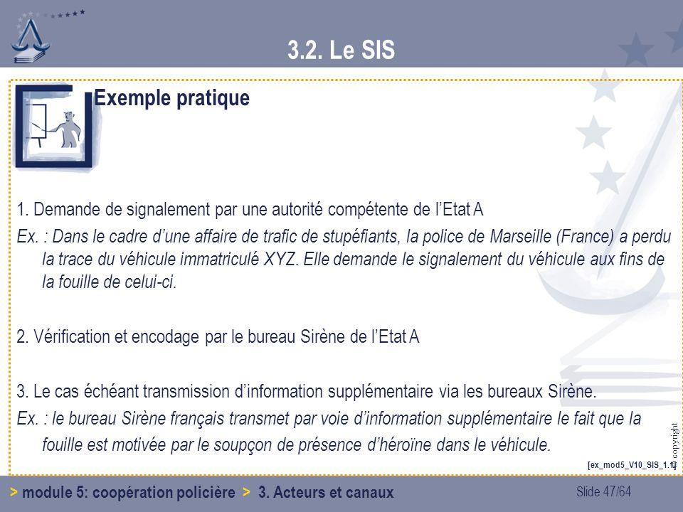 3.2. Le SIS Exemple pratique