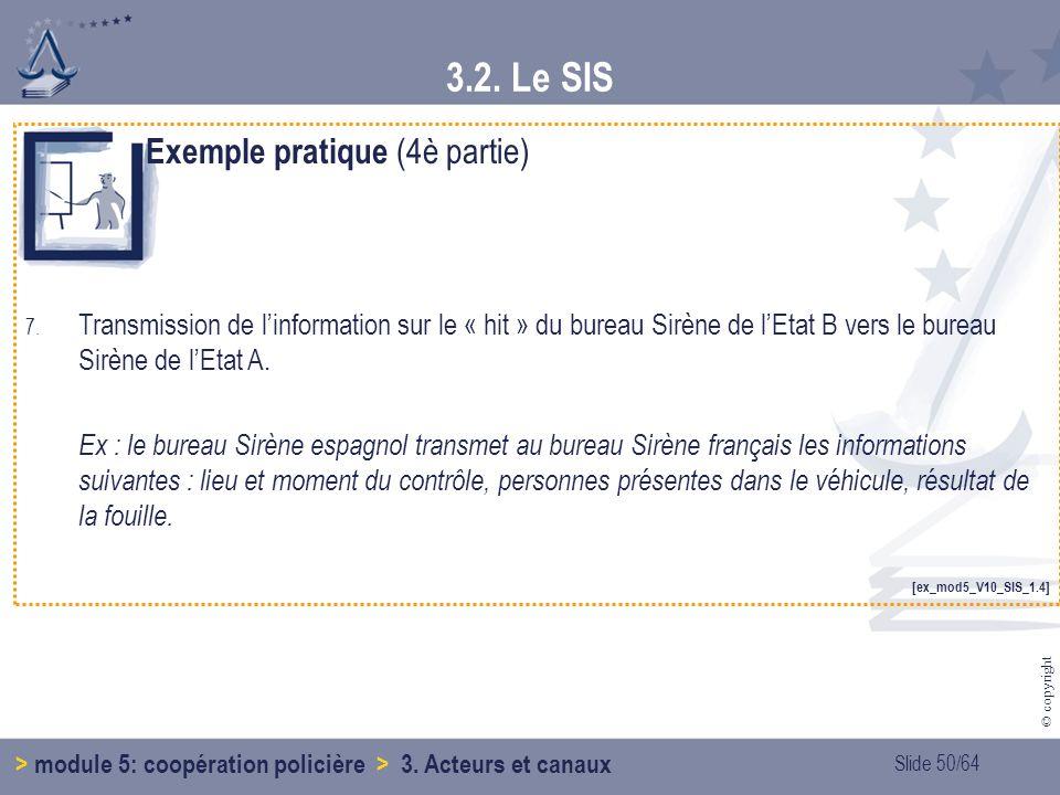 3.2. Le SIS Exemple pratique (4è partie)