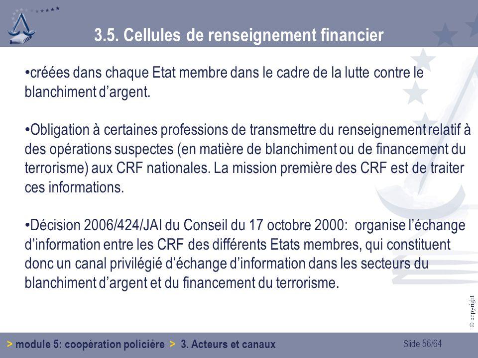 3.5. Cellules de renseignement financier