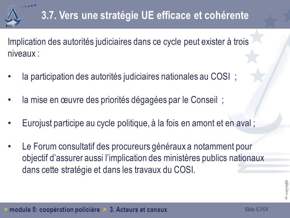 3.7. Vers une stratégie UE efficace et cohérente