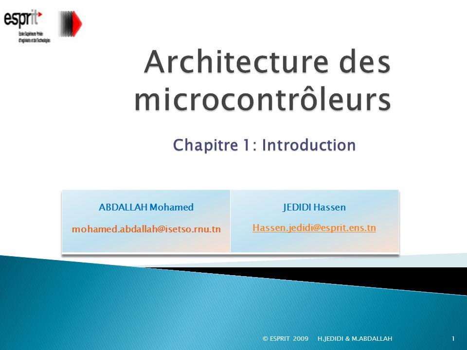 Architecture des microcontrôleurs