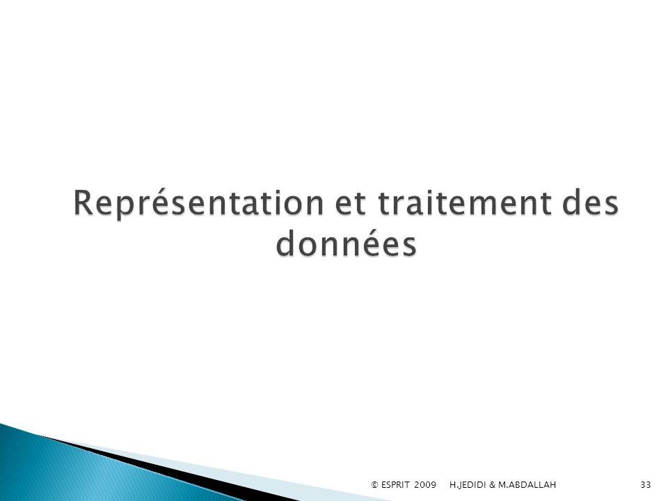 Représentation et traitement des données