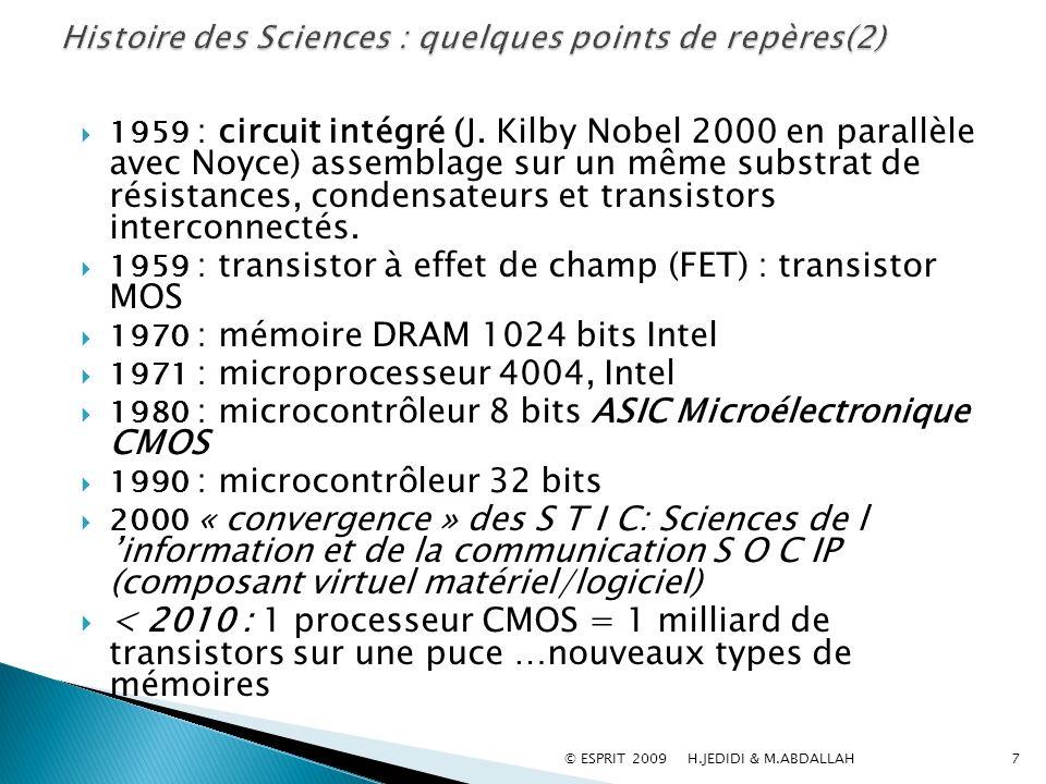 Histoire des Sciences : quelques points de repères(2)