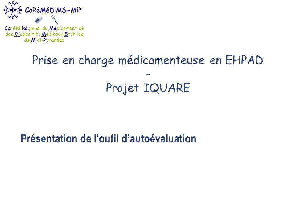 Prise en charge médicamenteuse en EHPAD - Projet IQUARE