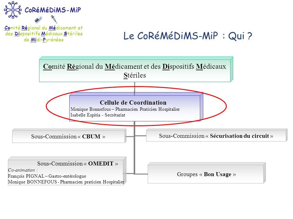 Le CoRéMéDiMS-MiP : Qui