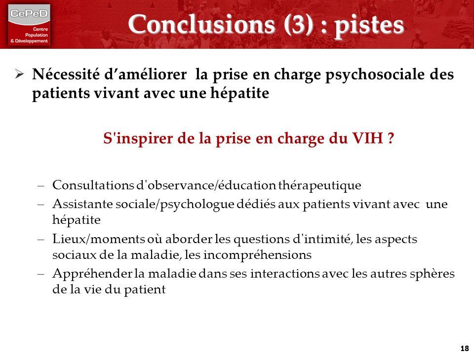 Conclusions (3) : pistes