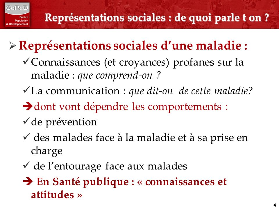 Représentations sociales : de quoi parle t on