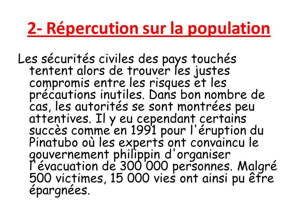 2- Répercution sur la population