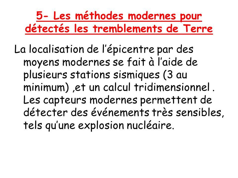 5- Les méthodes modernes pour détectés les tremblements de Terre