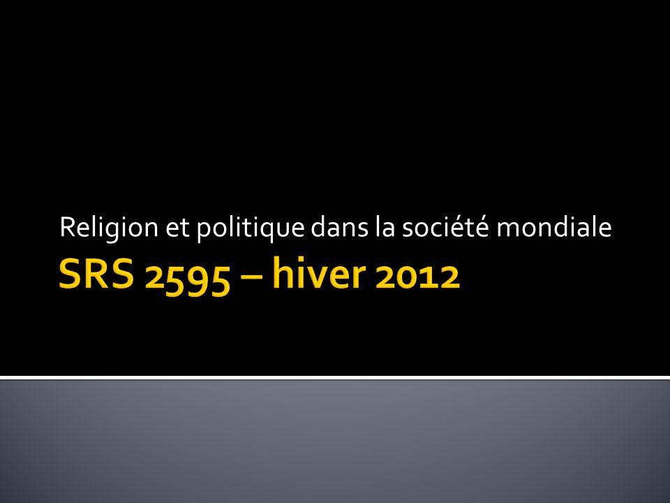 Religion et politique dans la société mondiale