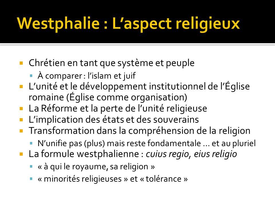 Westphalie : L'aspect religieux