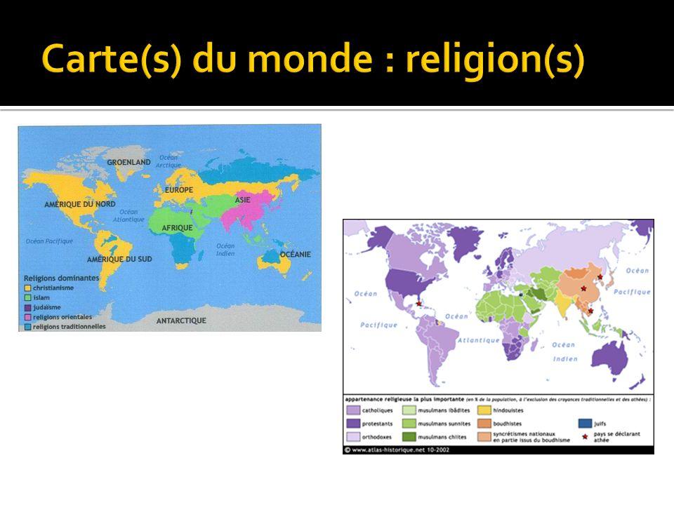 Carte(s) du monde : religion(s)