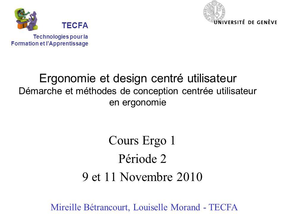 Cours Ergo 1 Période 2 9 et 11 Novembre 2010