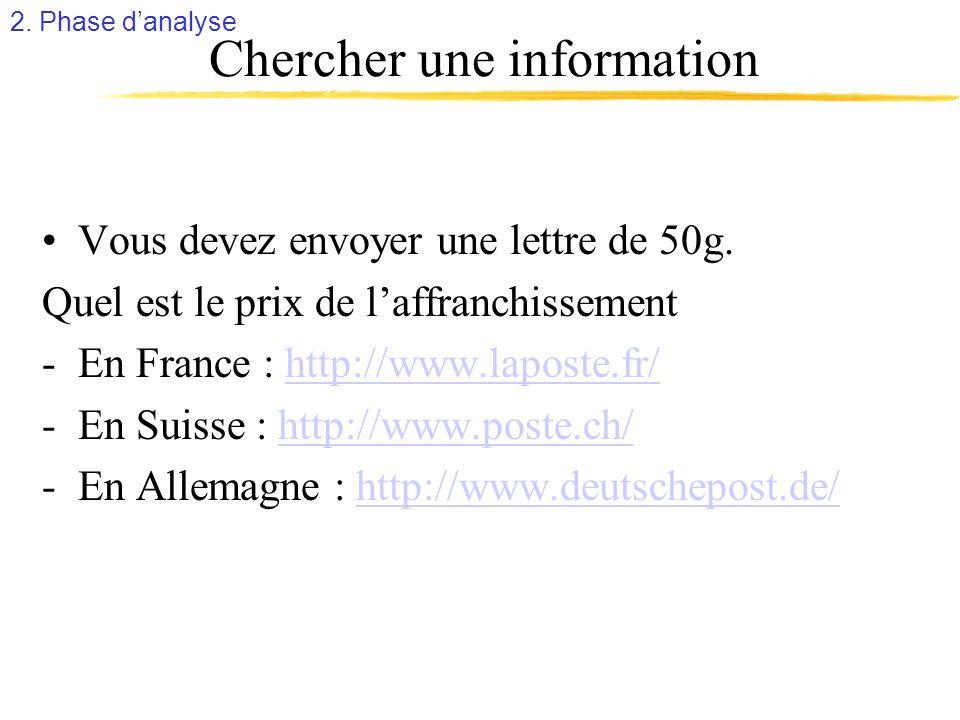 Chercher une information