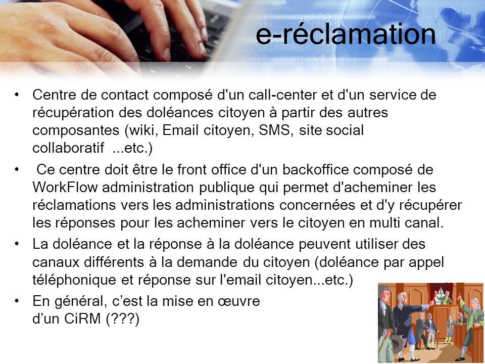 e-réclamation