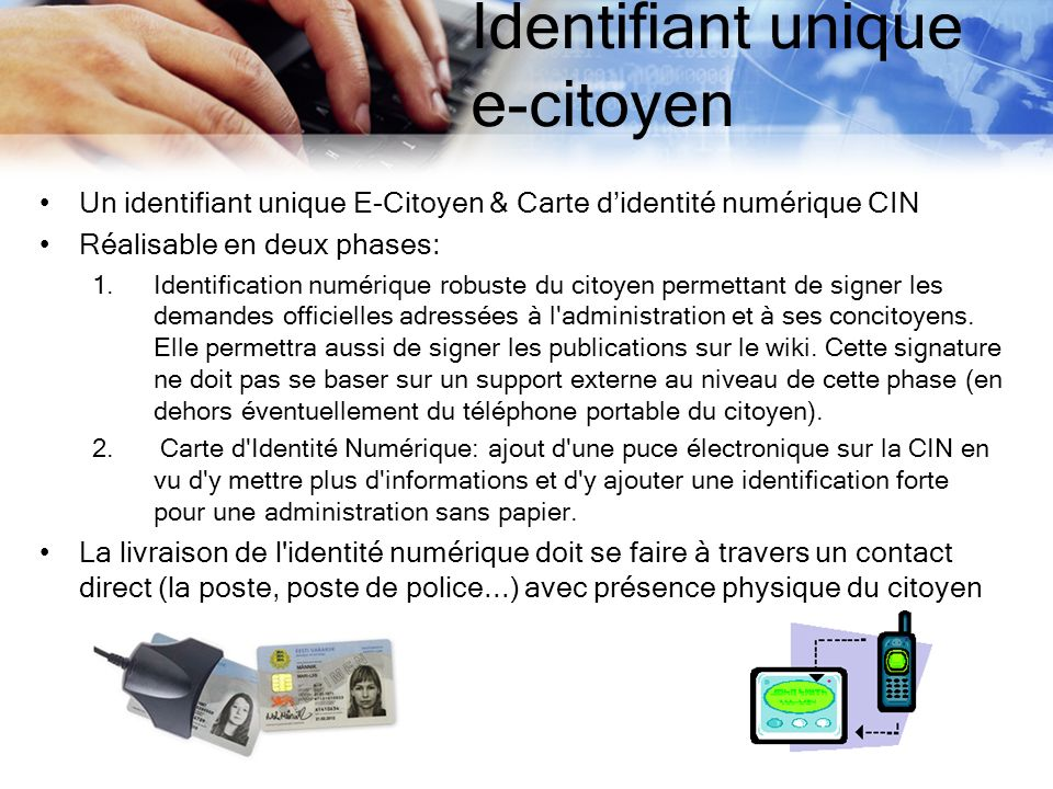 Identifiant unique e-citoyen