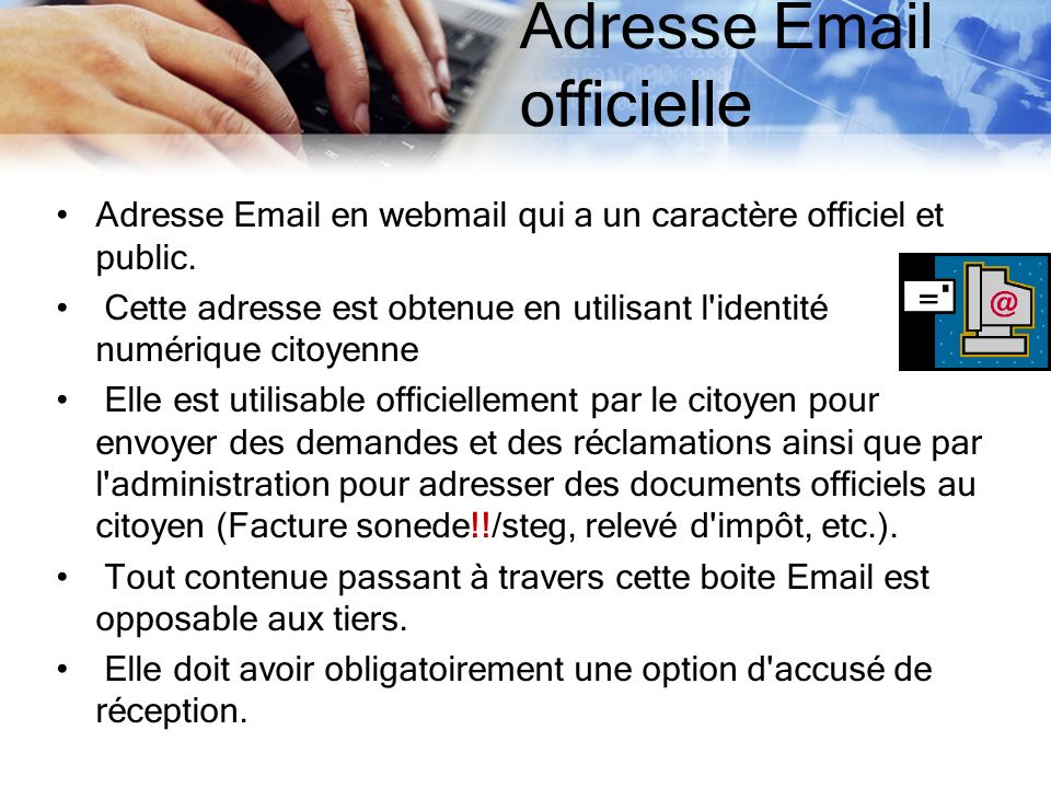 Adresse Email officielle