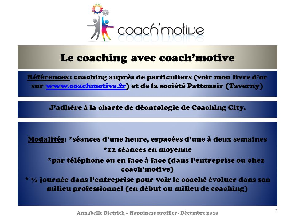 Le coaching avec coach'motive