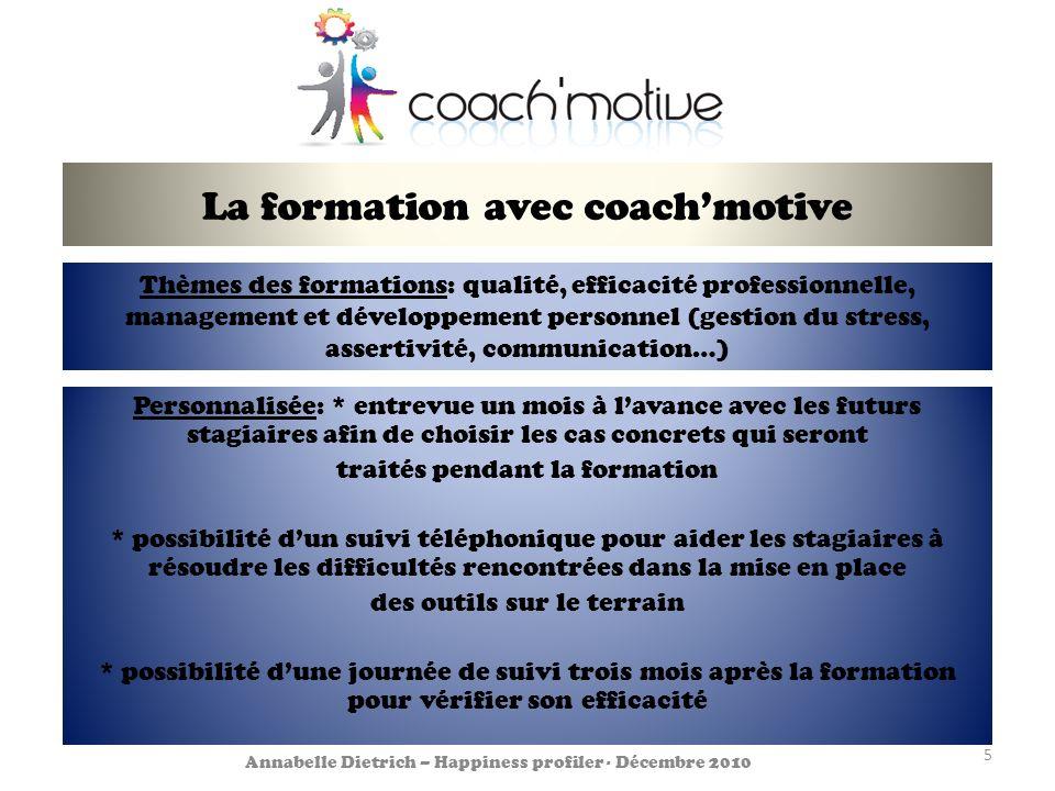 La formation avec coach'motive