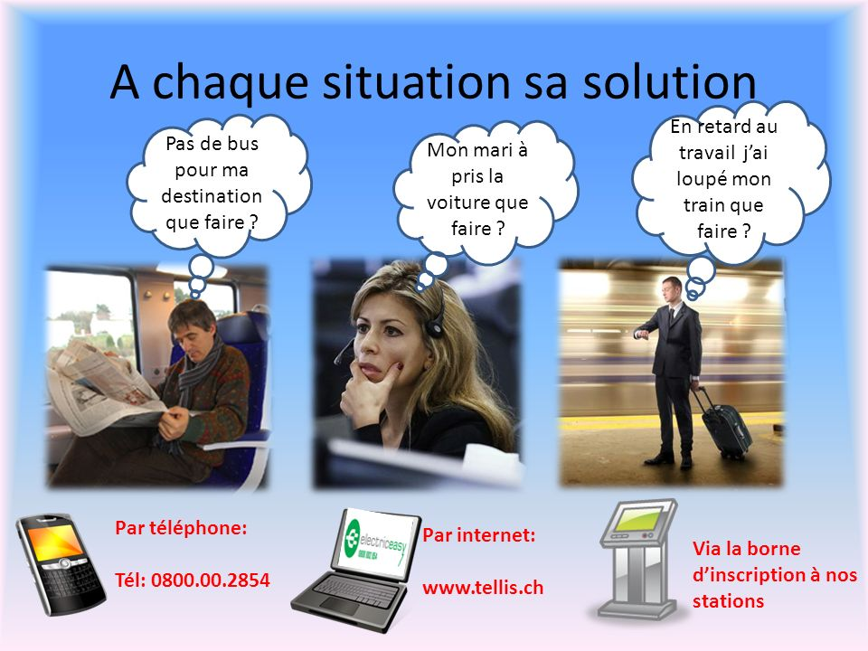 A chaque situation sa solution