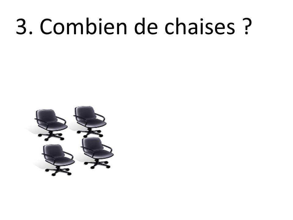 3. Combien de chaises